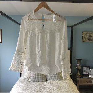 NWT Abercrombie&Fitch White Lace Bohemian Flare xS